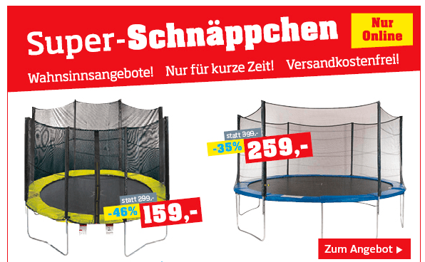 m belix trampolin 305 cm um 119 25 oder 427 cm um 194 25. Black Bedroom Furniture Sets. Home Design Ideas