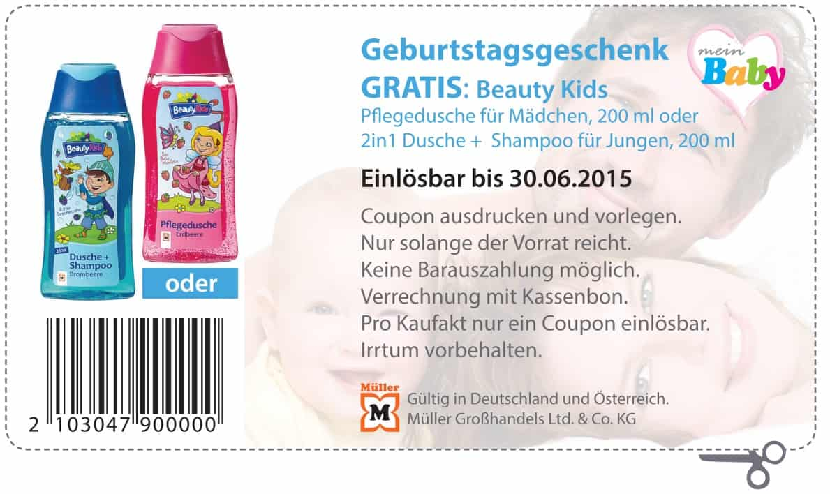 m ller kostenlose produkte z b beauty kids 200ml duschgel. Black Bedroom Furniture Sets. Home Design Ideas