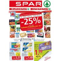 Neue Sortimentsaktionen z.B.: -25% auf Tiefkühl-Produkte bei Spar