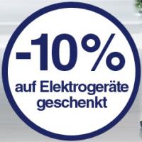 Quelle.at – 10% auf Elektrogeräte (inkl. reduzierte Artikel!) – nur heute!