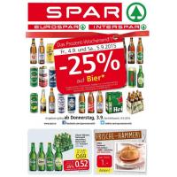 Neue Sortimentsaktionen z.B.: -25% auf Bier bei Spar