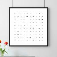 Radbag.at: personalisierbares Wörtersuche-Poster um nur 14,97 €