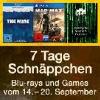 7 Tage Filme & Games Schnäppchen bis 20. September bei Amazon