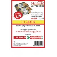Spar Mahlzeit Gutscheine gueltig bis 30.09.2015 zB.: 2 x 250 g Becel für 1,69 €