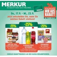Merkur: -25% auf 3 Warengruppen z.B.: alkoholfreie Getränke