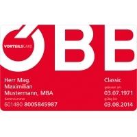 ÖBB: Vorteilscard bis 30. September 2015 kostenlos testen