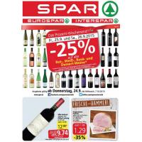 Neue Sortimentsaktionen z.B.: -25% auf Weine bei Billa & Spar