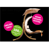 Mömax Onlineshop: Hängesessel Bali um 80 € inkl. Versand