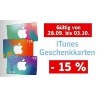 Lidl: – 15% auf iTunes-Karten bis 3. Oktober 2015