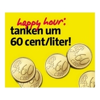 Avanti Happy-Hour: Diesel und Super 95 um sensationelle 60 Cent