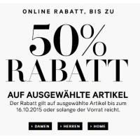 Sale mit bis zu 50 % Rabatt im H&M-Onlineshop