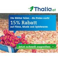 Thalia.at: 15 % Rabatt auf Musik, Spielwaren & Filme + zusätzliche Sales