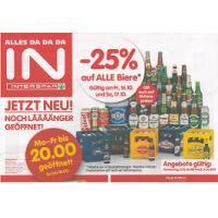 Interspar: -25% auf Bier (Radler) am 16. u. 17.10.2015