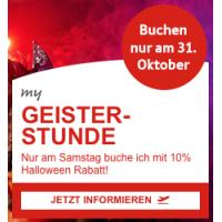 Austrian Airlines: – 10 % Rabatt auf Economy Europa Flüge – nur heute!