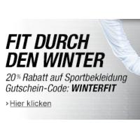 """Amazon: 20% Rabatt auf Bekleidung im Bereich """"Sport/Freizeit"""""""