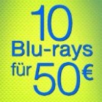 10 Blu-Rays um 50 € bei Amazon (437 Filme zur Auswahl)