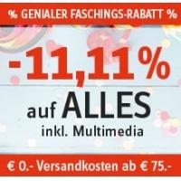 11,11 % Rabatt auf (fast) ALLES (inkl. Multimedia) bei Universal.at
