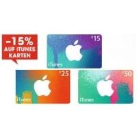 15% Rabatt auf iTunes-Karten bis 18. November 2015 bei Libro