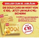 Interspar Gold Card um 90 € statt 100 € (ab 16. Jänner 2020)
