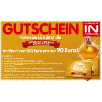 Interspar Gold Card um 90 € statt 100 € bis 02.12.2015