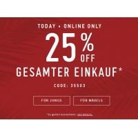 Hollister: 25 % Rabatt auf den gesamten Einkauf + kostenloser Versand