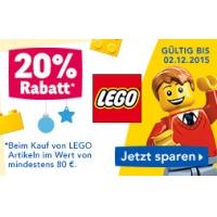 """Toys""""R""""Us: 20 % Rabatt auf Lego-Artikel bis 2.12.2015"""