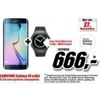 Media Markt: Samsung Galaxy S6 edge oder Samsung Galaxy S6 edge+ kaufen & Samsung Gear S2 R7200 kostenlos bekommen