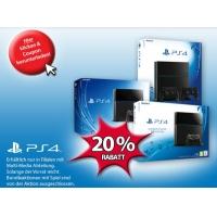 20 % Rabatt auf PS4 Konsolen (keine Bundles) bei Müller