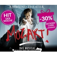Musical Mozart im Raimund Theater: 30 % Rabatt auf Tickets