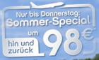 Nur bis Donnerstag: Hin und Zurück um 98 € in einige europäische Städte @Airberlin Sommerspecial