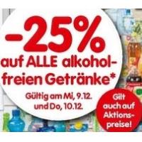 Interspar: -25 % auf alkoholfreie Getränke am 9. und 10.12.2015