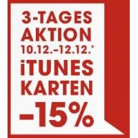 15% Rabatt auf iTunes-Karten bis 12. Dezember 2015 bei Libro