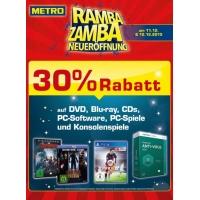 -30% Rabatt auf Games, Filme und Software bei Metro