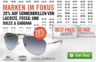 -20% auf Sonnenbrillen von Lacoste, Fossil und Dolce & Gabbana @Mister-Spex