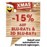 15% Rabatt auf alle Blu-Rays (auch 3D) + kostenloser Versand bei Libro
