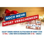 Hervis: Gutscheine um 100 € kaufen & 10 € Gutschein geschenkt