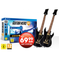 Guitar Hero Live + 2 Gitarren für die PS 4 um 69,99 € bei Gamestop