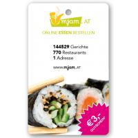 3 € sparen bei mjam.at & willessen.at bis 31. Dezember 2015