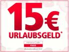 15€ Urlaubsgeld ab einem Mindestbestellwert von 50€ @Neckermann.at