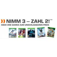 "Saturn Neujahrsaktion – ""Nimm 3 zahl 2″ Xbox One Games Aktion"