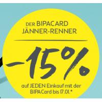 15% Rabatt auf den gesamten Einkauf bei BIPA (online & offline)