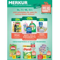 Merkur Angebote: -25% auf 3 Warengruppen & 1+1 Aktionen bis 13.1.