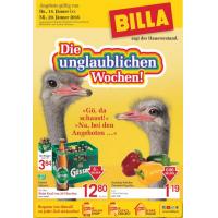 Unglaubliche Wochen bei Billa: 25% Rabatt auf Tiefkühlprodukte & 1+1 gratis Artikel vom 14. bis 20. Jänner 2016
