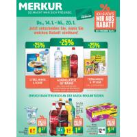 Merkur Angebote: -25% auf 3 Warengruppen & 1+1 Aktionen bis 20.1.