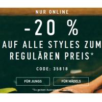 Hollister: -25% auf Ware mit regulärem Preis + Sale mit bis zu -50%