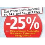 Spar/Eurospar/Interspar: 25% Rabatt auf alkoholfreie Getränke (bis 25.7.)