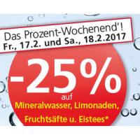 Spar/Eurospar/Interspar: 25% Rabatt auf alkoholfreie Getränke (bis 18.2.)