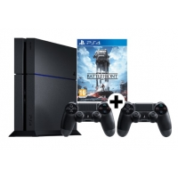 Saturn Tagesdeals – zB PlayStation 4 500 GB (neues Modell) + 2. Wireless Controller + Star Wars Battlefront um 389 €
