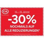 50% Rabatt auf bereits reduzierte Ware in den C&A Filialen (bis 07.08.)