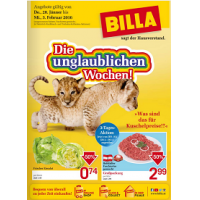 Unglaubliche Wochen bei Billa: 25% Rabatt auf Süßwaren und Knabbergebäck & 1+1 gratis Artikel
